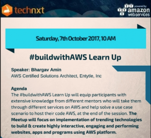 Build With AWS Learn Up at Tavisca's Pune Office