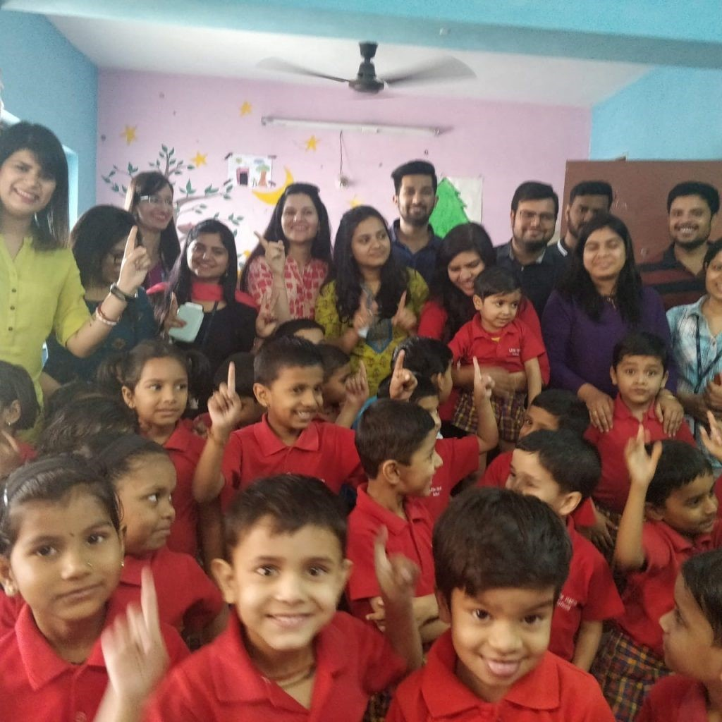 A colourful afternoon with our CSR partner The Little Hands School Yerwada Basti-6