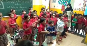 A colourful afternoon with our CSR partner The Little Hands School Yerwada Basti