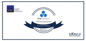 OneConnect's API Documentation Bags the 'Best of Show' Award from the Society for Technical Communication