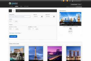 New front-end of online booking engine - travelnxt